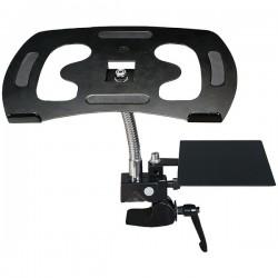 CTA Digital - PAD-HGL - CTA Digital Heavy-Duty Gooseneck Clamp Stand For Laptops Flexible Sturdy - 22 lb Load Capacity - Black