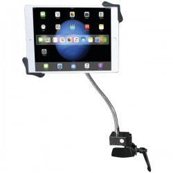 CTA Digital - PAD-HGT - CTA Digital Heavy-Duty Gooseneck Clamp Stand For 7-13In Tablets - 13 Screen Support - Black