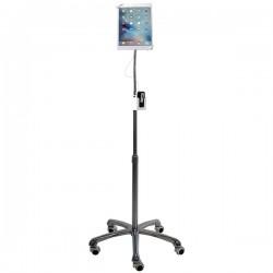 CTA Digital - PAD-SHFS - CTA Heavy-Duty Security Gooseneck Floor Stand - Cart for tablet - lockable - aluminum - screen size: 7-13