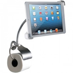CTA Digital - PAD-WBS - CTA Digital Wall Mount for iPad, Tablet PC - 7 to 10 Screen Support - Metal - Satin Nickel