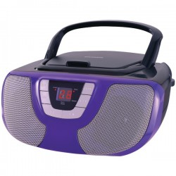 Osram - SRCD1025-PURPLE - Sylvania SRCD1025-PURPLE Portable CD Radio Boom Box (Purple)