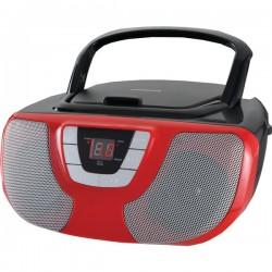 Osram - SRCD1025-RED - Sylvania SRCD1025-RED Portable CD Radio Boom Box (Red)