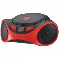 Osram - SRCD1063BT-RED - Sylvania SRCD1063BT-RED Bluetooth(R) Portable CD Radio Boom Box (Red)