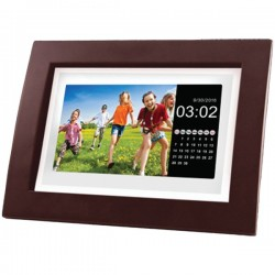Osram - SDPF1092 - SYLVANIA(R) SDPF1092 10-Class Digital Photo Wooden Frame with Remote