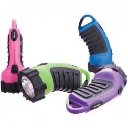 Dorcy - 41-2516 - Dorcy 41-2516 Assorted 4 Pack 3AAA - 3 LED Carabineer Flashlight - AAA - Rubber, Plastic - Assorted