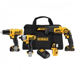 Dewalt - DCK413S2 - Dewalt 12V MAX Li-Ion 4-Tool Combo Kit - Yellow