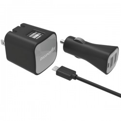 DigiPower - IS-PK2DM - Dual USB Wall and Car ChrgrKit