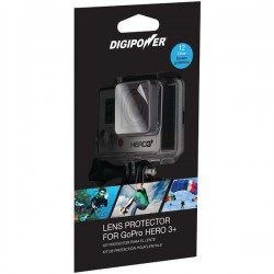 DigiPower - LP-GPH3+ - DIGIPOWER(R) LP-GPH3+ Lens Protector with 12 Clear Screens for GoPro(R) Hero3+