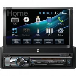 Dual - DV516BT - Dual(R) DV516BT 7 Single-DIN In-Dash DVD Receiver with Motorized Touchscreen & Bluetooth(R)