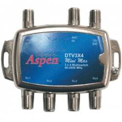 Eagle Aspen - DTV3X4 - Eagle Aspen(R) DTV3X4 DIRECTV(R)-Approved 3-In x 4-Out Multiswitch