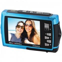 Bell+Howell - 2VIEW18-BL - Bell+Howell(R) 2VIEW18-BL 2VIEW18 Dual-Screen Waterproof HD Camera (Blue)
