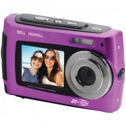 Bell+Howell - 2VIEW18-P - Bell+Howell(R) 2VIEW18-P 2VIEW18 Dual-Screen Waterproof HD Camera (Purple)