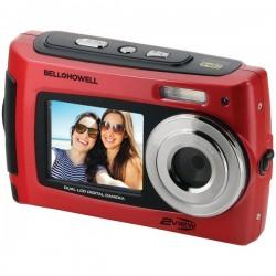 Bell+Howell - 2VIEW18-R - Bell+Howell(R) 2VIEW18-R 2VIEW18 Dual-Screen Waterproof HD Camera (Red)