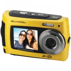 Bell+Howell - 2VIEW18-Y - Bell+Howell(R) 2VIEW18-Y 2VIEW18 Dual-Screen Waterproof HD Camera (Yellow)