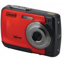 Coleman Company - C20WP-R - COLEMAN C20WP-R 18.0-Megapixel C20WP Xtreme HD Waterproof Digital Camera (Red)