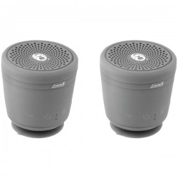 Coleman Company - CBT10TWS-GY-2P - Coleman(R) CBT10TWS-GY-2P Aktiv Sounds(TM) TWS Waterproof Bluetooth(R) Speaker (Gray; 2 pk)