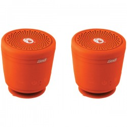 Coleman Company - CBT10TWS-O-2P - Coleman(R) CBT10TWS-O-2P Aktiv Sounds(TM) TWS Waterproof Bluetooth(R) Speaker (Orange; 2 pk)