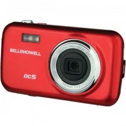 Bell+Howell - DC5-R - Bell+Howell DC5 Compact Camera - Red - 1.8 LCD - 4x - 640 x 480 Video