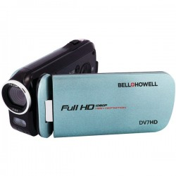 Bell+Howell - DV7HD-BL - Bell+Howell Digital Camcorder - 3 - Touchscreen - Full HD - Blue - 16:9 - 16x Digital Zoom - Video Light - HDMI - USB - microSDHC - Memory Card