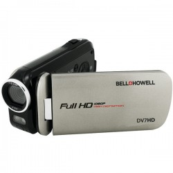 Bell+Howell - DV7HD-GY - Bell+Howell Digital Camcorder - 3 - Touchscreen - Full HD - Gray - 16:9 - 16x Digital Zoom - Video Light - HDMI - USB - microSDHC - Memory Card
