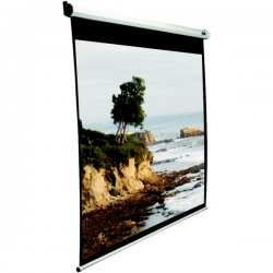 "Elite Screens - M100NWV1-SRM - Elite Screens M100NWV1-SRM Manual SRM Ceiling/Wall Mount Manual Pull Down Projection Screen (100"" 4:3 Aspect Ratio) (MaxWhite) - 60"" x 80"" - MaxWhite"