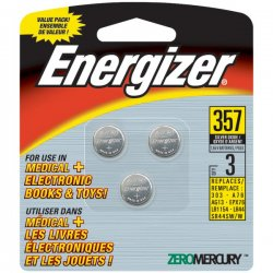Energizer - 357BPZ - Energizer General Purpose Battery - 150 mAh - Silver Oxide - 1.5 V DC - 6 / Case
