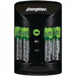 Energizer - CHPROWB4 - Energizer Recharge Pro AA/AAA Battery Charger - 3 Hour Charging - AC Plug - 4