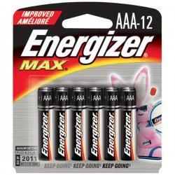 Energizer - E92BP-12 - Energizer AAA Alkaline Battery - Alkaline