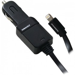 Duracell - PRO323 - Duracell(R) PRO323 2.1-Amp Car Charger with Lightning(R) Cable