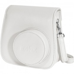 Fujifilm - 600015375 - instax Groovy Carrying Case for Camera - White - Dust Resistant Interior, Scratch Resistant Interior - Polyurethane Leather - Shoulder Strap