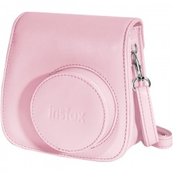 Fujifilm - 600015378 - instax Groovy Carrying Case for Camera - Pink - Dust Resistant Interior, Scratch Resistant Interior - Polyurethane Leather - Shoulder Strap
