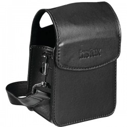 Fujifilm - 600015757 - instax Carrying Case (Pouch) for Portable Printer - Black - Synthetic Leather - Shoulder Strap