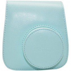Fujifilm - 600018144 - Fujifilm Groovy Carrying Case for Camera - Ice Blue - Synthetic Leather - Debossed Instax Logo - Hand Strap, Shoulder Strap - 6 Height x 2 Width x 5 Depth