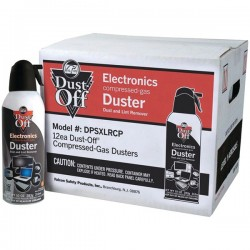 Falcon Safety - DSPXLRCP - Dust-Off DSPXLRCP Air Duster - For Multipurpose - 10 fl oz - Disposable - 12 Pack