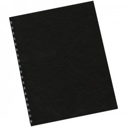 Fellowes - 5217501 - Fellowes Classic Expression Grain Presentation Cover - Letter 8.5 x 11 - Leather - 25 / Pack - Black