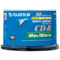 Fujifilm - 600002931 - Fujifilm 48x CD-R Media - 700MB - 120mm Standard - 50 Pack Spindle