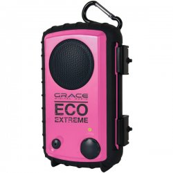 Grace Digital - GDI-AQCSE106 - Grace Digital ECOXGEAR Eco Extreme GDI-AQCSE106 Rugged Waterproof Case with Built-in Speaker for Smartphones (Pink) - Grace Digital ECOXGEAR Eco Extreme GDI-AQCSE106 Rugged Waterproof Case with Built-in Speaker for