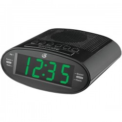 GPX - C303B - Clock Radio W/1.2 Led Display Dual Alarm Am/fm Sleep Timer