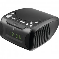 GPX - CC314B - GPX Desktop Clock Radio - Apple Dock Interface - Proprietary Interface - 2 x Alarm - AM, FM - USB - Charging Dock