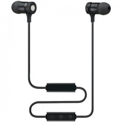 Sound Aura - SAEB16B - Sound Aura SAEB16B Bluetooth(R) Magnetic Earbuds with Microphone