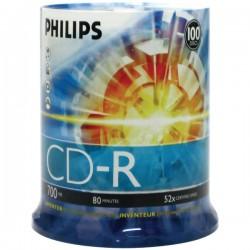 Philips - D52N650 - Philips 52x CD-R Media - 700MB - 100 Pack