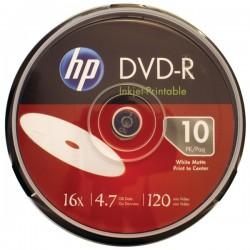 Hewlett Packard (HP) - DM16WJH010CB - HP(R) DM16WJH010CB 4.7GB 16x Printable DVD-Rs, 10-ct Spindle