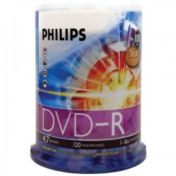 Philips - DM4S6B00F/17 - Philips 16x DVD-R Media - 4.7GB - 100 Pack