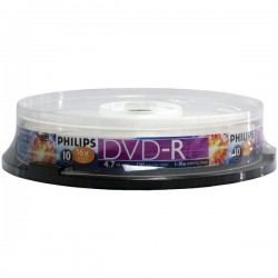 Philips - DM4S6B10F/17 - Philips(R) DM4S6B10F/17 4.7GB 16x DVD-Rs (10-ct Cake Box Spindle)