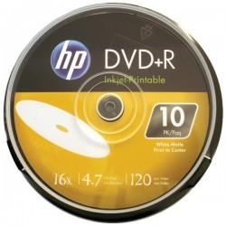 Hewlett Packard (HP) - DR16WIJH010CB - HP(R) DR16WIJH010CB 4.7GB 16x Printable DVD+Rs, 10-ct Cake Box Spindle