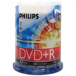 Philips - DR4S6B00F/17 - Philips 16x DVD+R Media - 4.7GB - 100 Pack