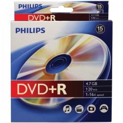 Philips - DR4S6B10B/17 - Philips(R) DR4S6B10B/17 4.7GB 16x DVD+Rs, 10-pk Peggable Box