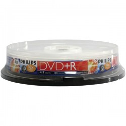 Philips - DR4S6B10F/17 - Philips(R) DR4S6B10F/17 4.7GB 16x DVD+Rs (10-ct Cake Box Spindle)