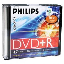 Philips - DR4S6S05F/17 - Philips(R) DR4S6S05F/17 4.7GB 16x DVD+Rs with Slim Jewel Cases, 5 pk