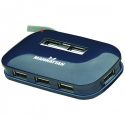 Manhattan - 161039 - Manhattan Hi-speed Usb 2.0 Ultra Hub, 7 Ports, Dual Power, Multiple Transaction